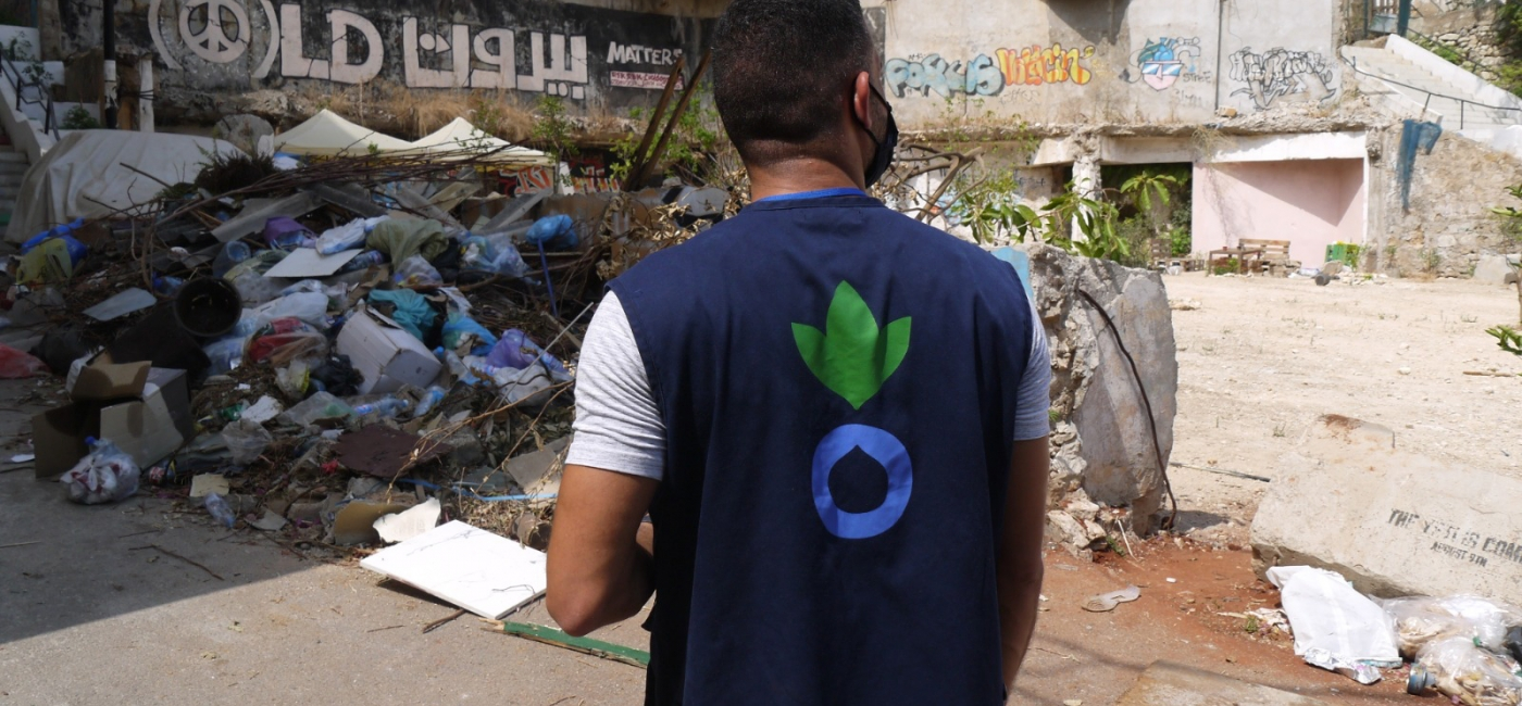 Ali, a member of Action Against Hunger's team in Lebanon, carries out a needs assessment in Beirut.