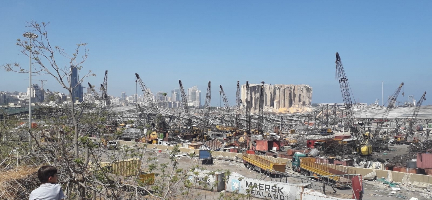 The port of Beirut was destroyed by an explosion on August 4, 2020.