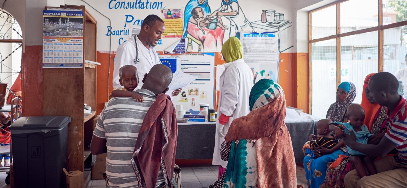 Inside one of Action Against Hunger's health centers in Somalia