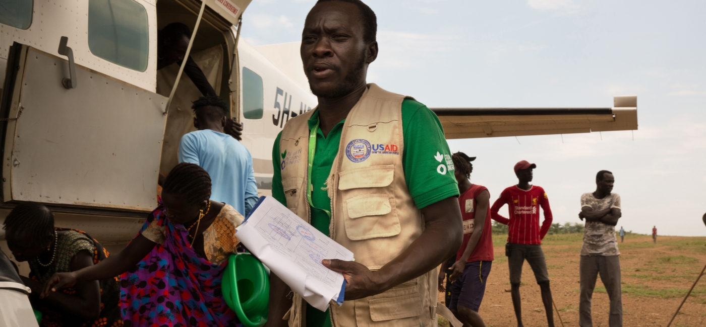 A member of Action Against Hunger's emergency team in South Sudan.