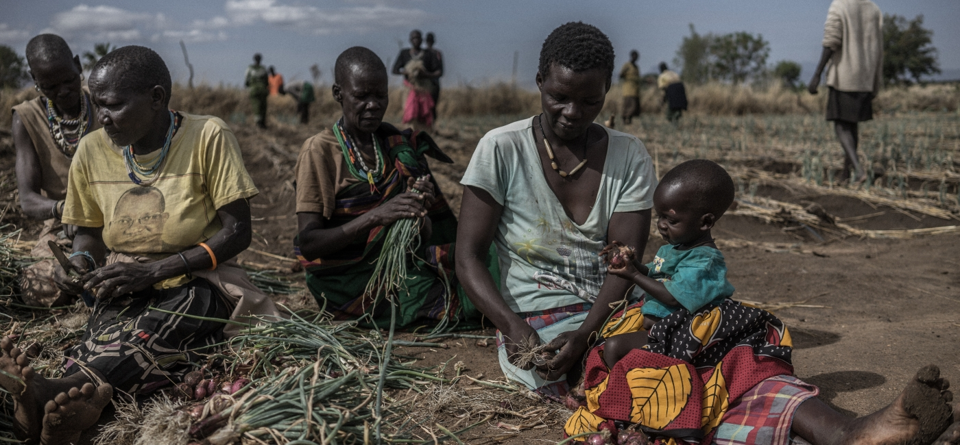 South Sudanese refugees in Uganda.