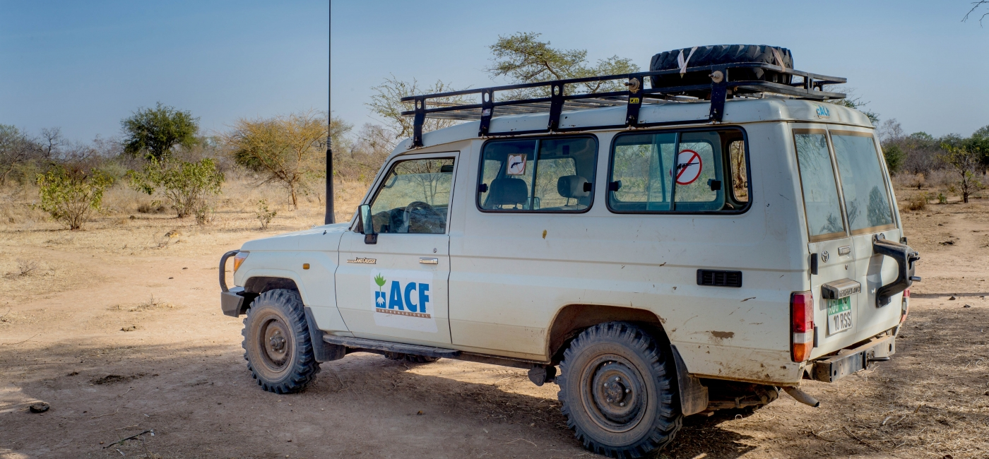 One of Action Against Hunger's fleet of vehicles in South Sudan. Photo: Andrew Parsons for Action Against Hunger, South Sudan.