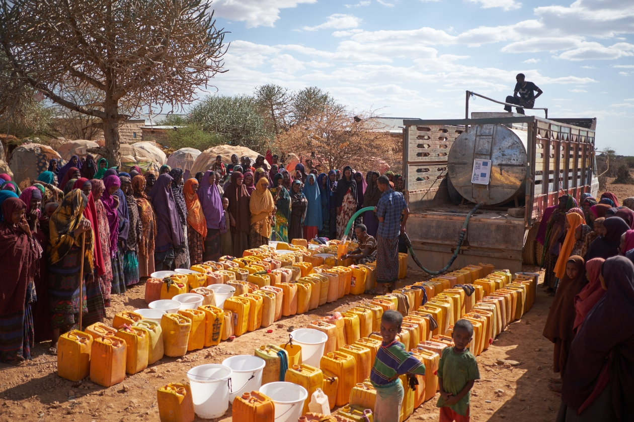 Action Against Hunger's water trucks provided 10,000 people with safe water in Bakool, Somalia in 2017.