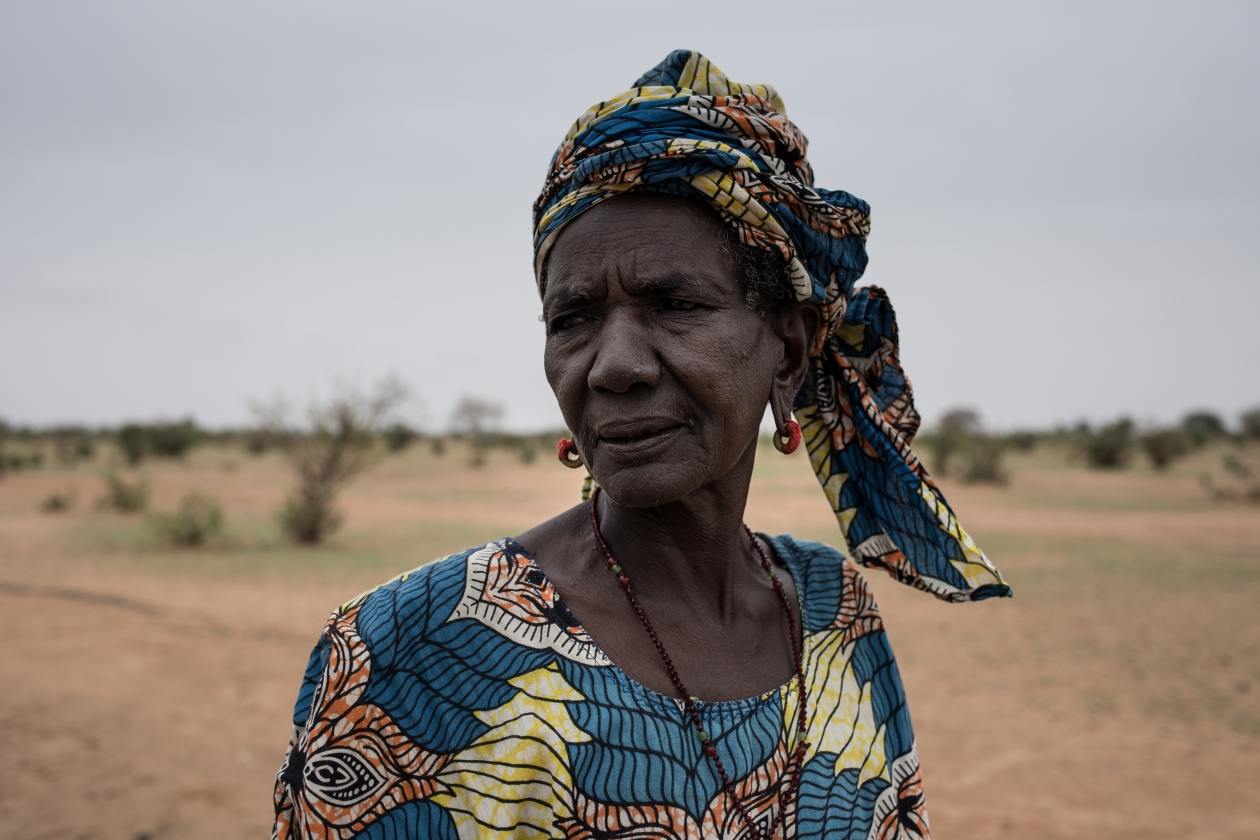 A woman in Podor, Senegal, where severe drought has hit for the third time in six years.
