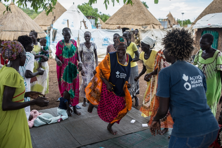 In our support groups, refugee women find a safe place to talk, share, sing, and dance.