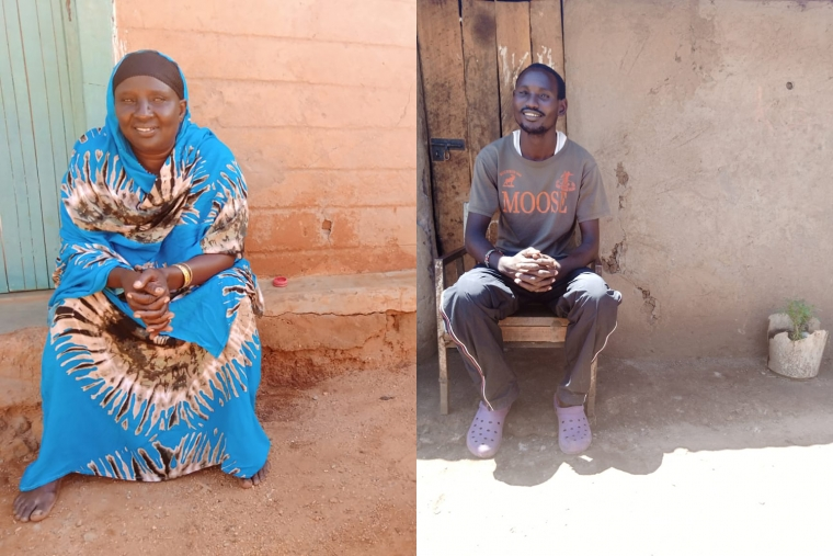 Community health workers Selina (left) and Samuel (right) in Kenya