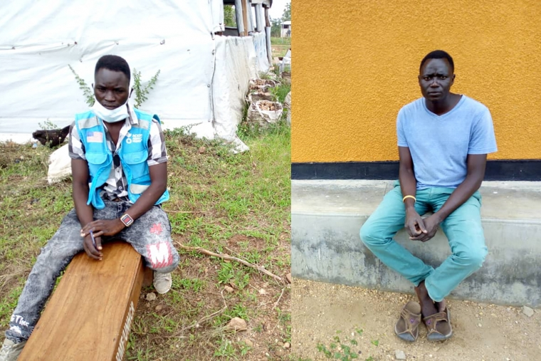 Community health workers Victor (left) and Simon (right) in Uganda