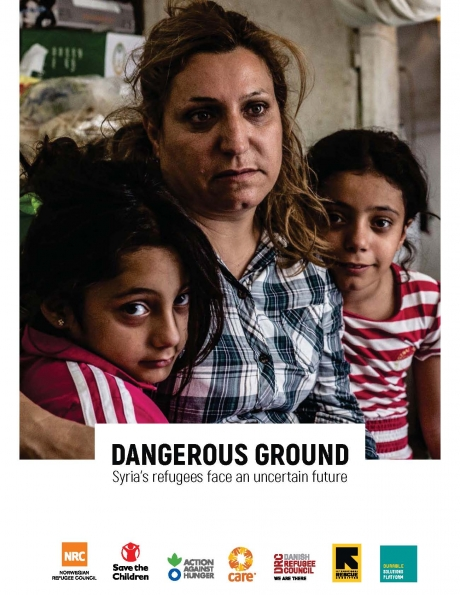 "Read the report: ""Dangerous ground: Syria's refugees face an uncertain future""."