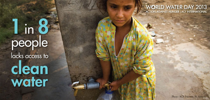 1 in 8 people lacks access to clean water